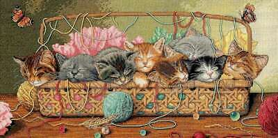 "Gold Collection Kitty Litter Counted Cross Stitch Kit 18""X9"" 18 C 088677351847"