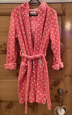 Joules Girls Pink Dressing Gown Size 9-10 years. Good Condition- as photographed