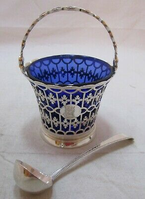 Superb Antique Georgian Sterling silver pierced basket, 1772, Wm Peaston, 116g