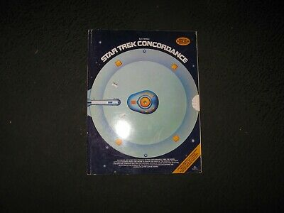 Vintage Star Trek Soft Cover Book Concordance 1st Edition 1976 (1) Used