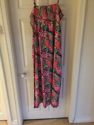 Lovely Maxi Dress, Plus Size 24/26, Pink Floral, Longer Length, NEW W TAGS