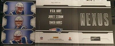 2019 Panini playbook patch booklet stidham harris n´keal harry