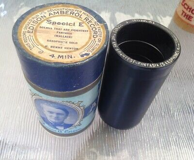Edison Amberol Special Record E Cylinder phonograph record gramophone