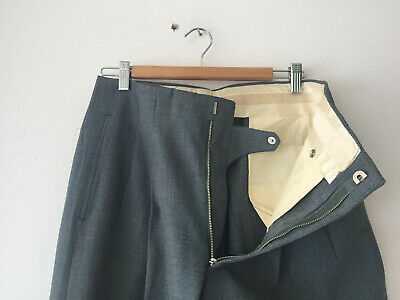ORIGINAL VINTAGE DEADSTOCK 1940S MEN'S PANTS HOLLYWOOD WAIST W31 (33) x 29 1/2