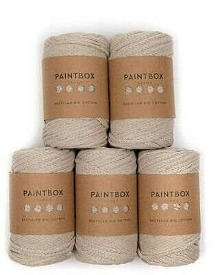 Paintbox Yarns Recycled Big Cotton BEIGE 5 Ball Value Pack RRP £43