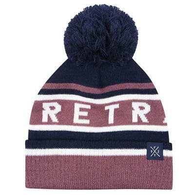 Firetrap Snow Beanie Junior JNR NEW Bobble Hat Cap Poison Berry