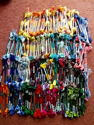 Cross stitch/Embroidery threads Assorted colours 230 Skeins new by DMC (2)