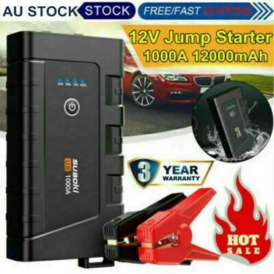 1000A Car Jump Starter Pack Booster Battery Charger Power Bank 7L Gas 5L Diesel