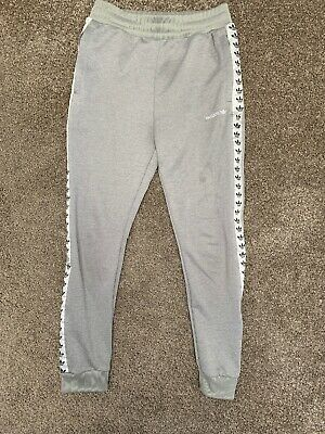 Fab Pair Of Boys Adidas Grey Tape Joggers Age 11-12 Yrs