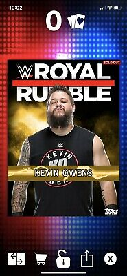 Topps SLAM WWE Kevin Owens Topps NOW Royal Rumble 2017 DIGITAL CARD