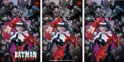 Batman Who Laughs #5 Derrick Chew Mad Love 3 Cover Variant Set Ltd To 800 Sets