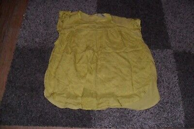 Girls Green Smock Top NEXT age 11Years (Small Made) NWOT