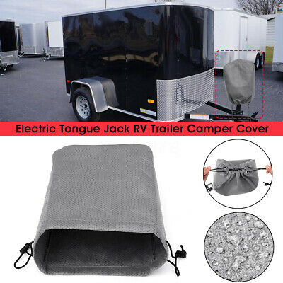 """Dumble RV Jack Cover Trailer Jack Cover RV Electric Jack Cover 10.5/"""" x 13.75/"""" Inch Black Electric Tongue Jack Cover"""