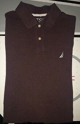 Men's Nautica Long Sleeve Classic Fit Polo Shirt - Size Medium