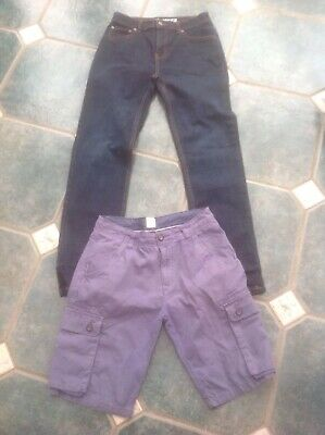 boys boden age 13 grey cargo shorts and Tu sainsburys jeans age 12
