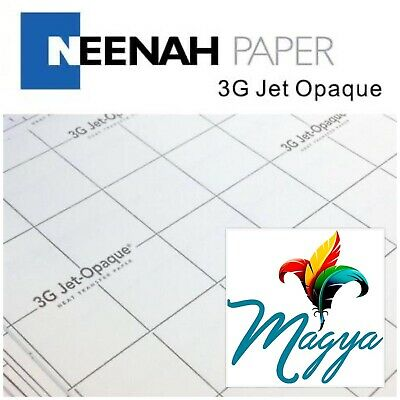 """3G Jet Opaque Neenah Inkjet Heat Transfer Paper 8.5""""x11"""" 50 sheets Made In USA"""