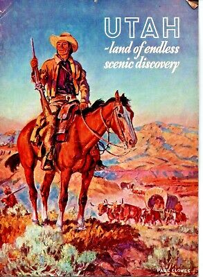 UTAH Land Of Endless Scenic Discovery Souvenir Picture Booklet 1939 Clowes Cover