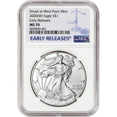 2020-(W) American Silver Eagle - NGC MS70 - Early Releases