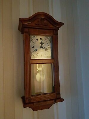 LINCOLN 31 Day Chiming Wall Clock Wood With Pendulum Mechanical - 250