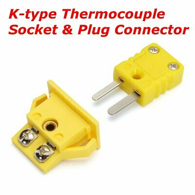 One Set Thermocouple K Type Miniature Socket & Panel Mount Alloy Plug Connector