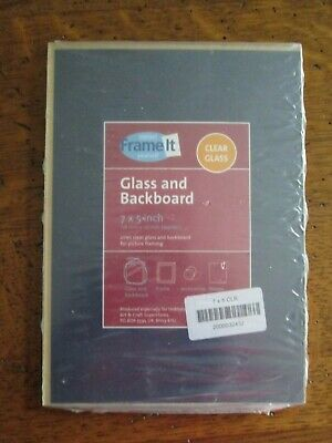 Glass & Back Board in Picture Framing. 178mm x 127mm (7 x 5 Inch.)