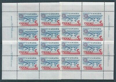 Canada #469 #1 Expo '67 Matched Set Plate Block MNH