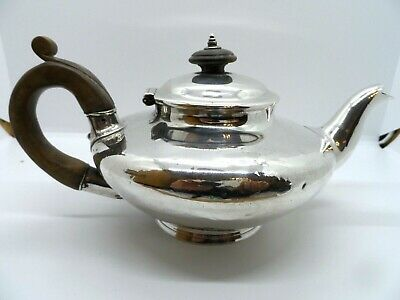 A Good Antique Solid Silver Teapot 1836