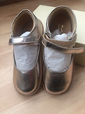 BNWT JOHN LEWIS GIRLS GOLD PARTY SHOES MARYJANE ~ Size UK 1 - Wide Fit Heirloom
