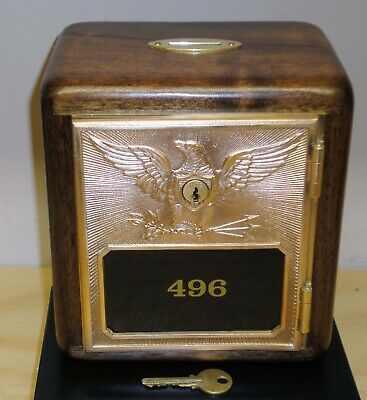 Walnut Bank Cabinet for Size #3 Flying Eagle Post Office Box Door