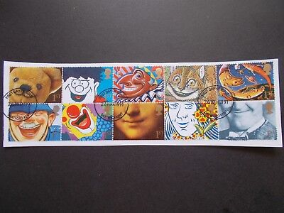 GB 1991 Commemorative Stamps~Greetings~Very Fine Used Set~on piece~ex fdc~UK