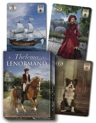 THELEMA LENORMAND ORACLE Tarot Kit Card Deck Divination Cards Boxed Set