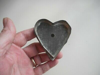 #9 Antique Tin HEART Cookie Cutter.  Old soldered Tin Cookie Cutter