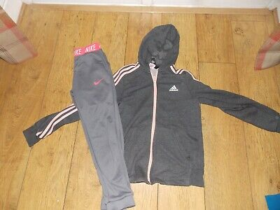 Girls Nike Joggers Adidas Tracksuit Top Age 10-12 Years