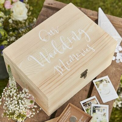 Wedding Day Wooden Memory Box Keepsake Venue Decoration Gift Present