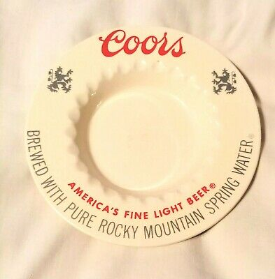Vintage Coors Ash Tray America/'s Fine Light Beer Rocky Mountain Spring Water