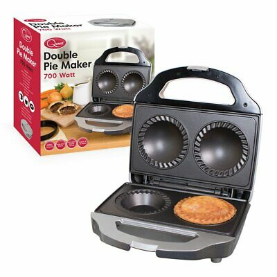 Twin Double Pie NonStick Electric Sweet Savoury Maker Crimping Pastry Cutter Kit