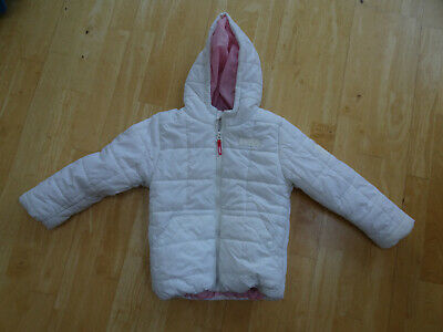 PUFFA girls white padded hooded jacket coat AGE 3 - 4 YEARS VERY GOOD