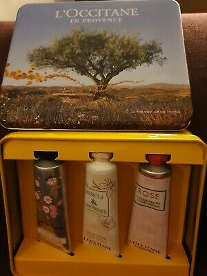 L'OCCITANE LIMITED EDITION HAND CREAM TRIO COLLECTION TIN WITH 3 TUBES 30ml NEW