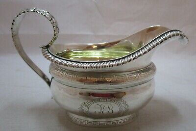 Superb Antique Georgian Sterling silver milk jug, 1826, 217 grams
