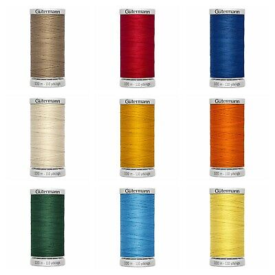 Gutermann Extra Strong Thread Upholstery & Sewing, 100m Reels VARIOUS COLOURS