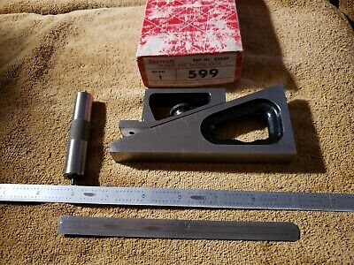 STARRETT No. 599 Vintage Planer and Shaper Gage, plus 2 Stainless Rulers USA