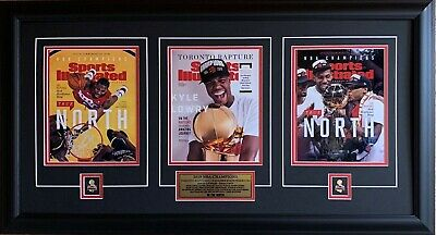 Toronto Raptors 2019 NBA Champions Sports Illustrated SI 3 Covers Framed Plaque