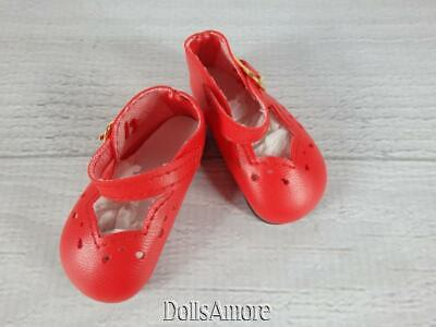 Classic WHITE Patent 2-1//2 x 1-1//8 inch Mary Jane Doll SHOES fit Kish Seasons