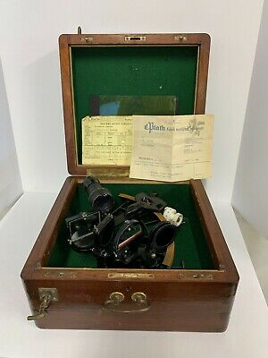 1968 Plath Micrometer Sextant 4x40 with original paper, receipt and box #3107x