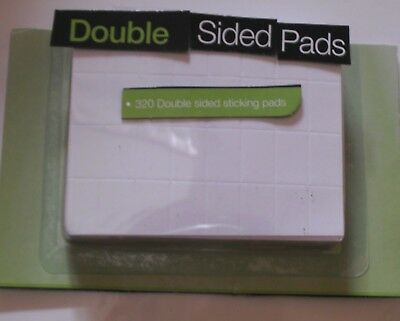320 Double Sided Sticky Foam Pads Tabs Adhesive- Indoors/Outdoors -Number Plate