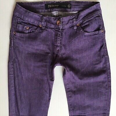 Ladies Next Lift & Shape Skinny Purple Faded Jeans Size 10 XL W28 L35 (365)