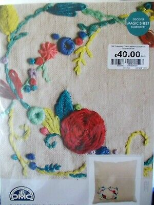 """Embroidery Kit Cushion Kit Meadow Sweet """" Rose Garland """" New by DMC"""