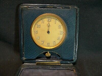 Antique Swiss 8 Day Goliath Travel Clock in Leather Case Project.