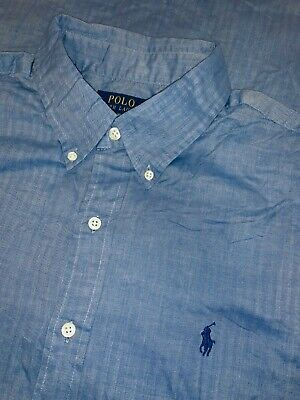 Polo Ralph Lauren Hemd Gr. XL Blau Button Down langarm Business Look