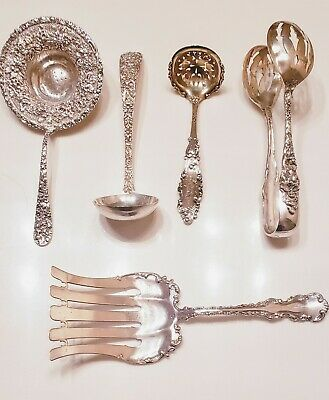 Huge Lot of Vintage Sterling Silver, Kirk, Gorham, Stieff, Whiting, Reed and Bar